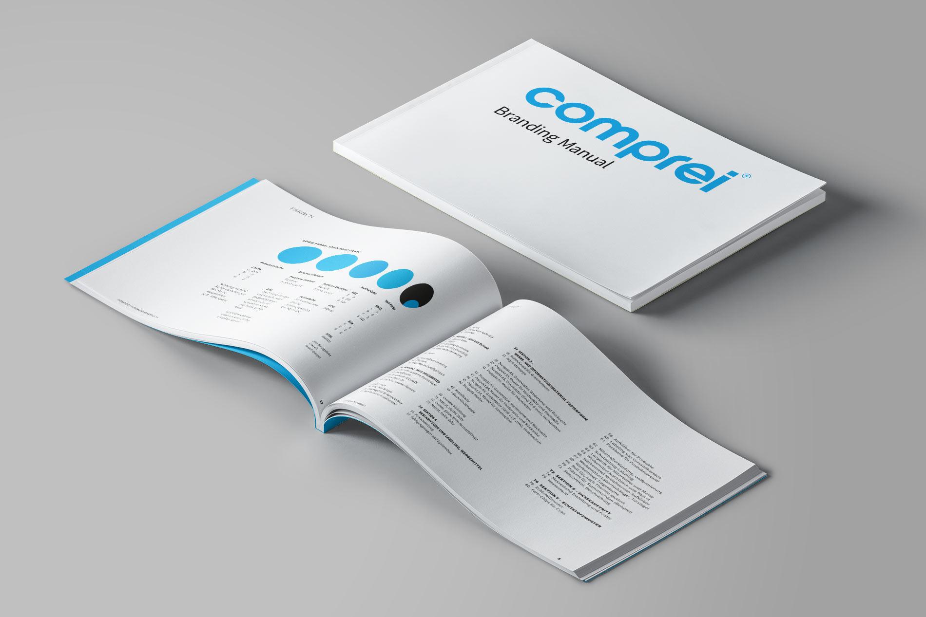 Umfassendes Branding Handbuch für comprei